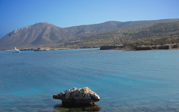 The coastline of Akamas Peninsula National Park in Paphos Cyprus