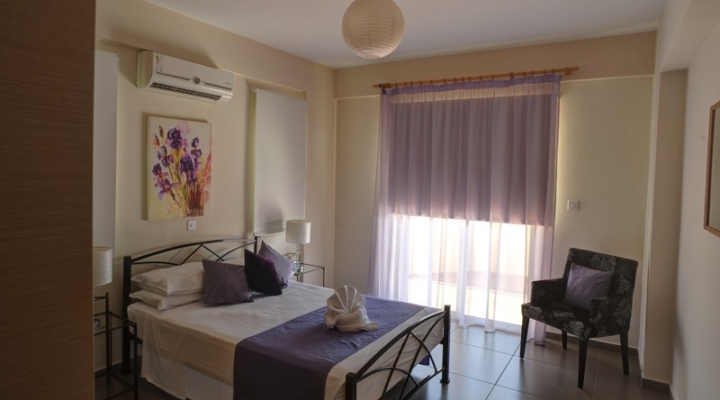 Bedroom View in One Bedroom Apartment at Aphrodite Sands Resort in Paphos