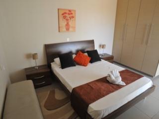 Master Bedroom of three bedroom apartment at Paphos Aphrodite Sands Resort