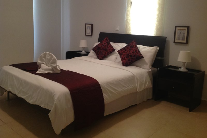 King Size Bed of two bedroom apartment at Paphos Aphrodite Sands Resort
