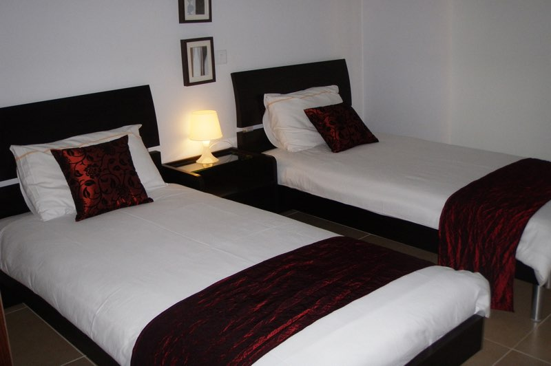Twin Beds of two bedroom apartment at Paphos Aphrodite Sands Resort