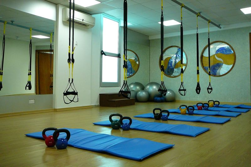Health Club aerobics room at Paphos Aphrodite Sands Resort