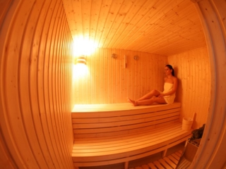 Sauna in the Health Club of Paphos Aphrodite Sands Resort