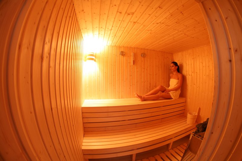 Sauna in the Health Club of Paphos Aphrodite Sands Resort