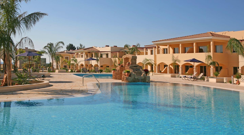 Umbrellas by the Pool at Paphos Aphrodite Sands Resort