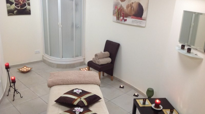 Massage room at Spa at Paphos Aphrodite Sands Resort