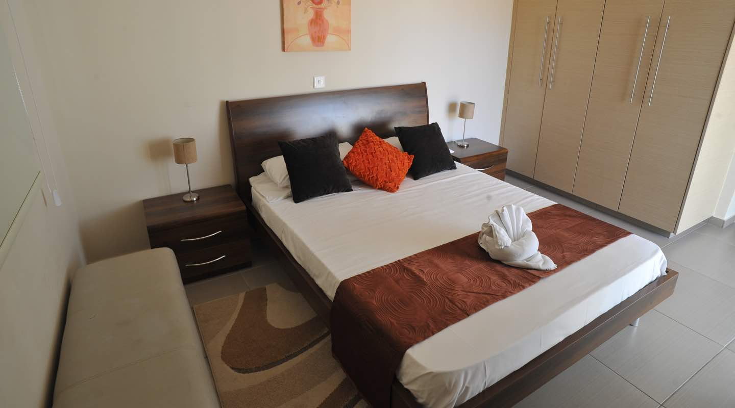 Double Room of three bedroom apartment at Paphos Aphrodite Sands Resort