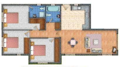 Three bedroom apt plan Paphos Aphrodite Sands Resort