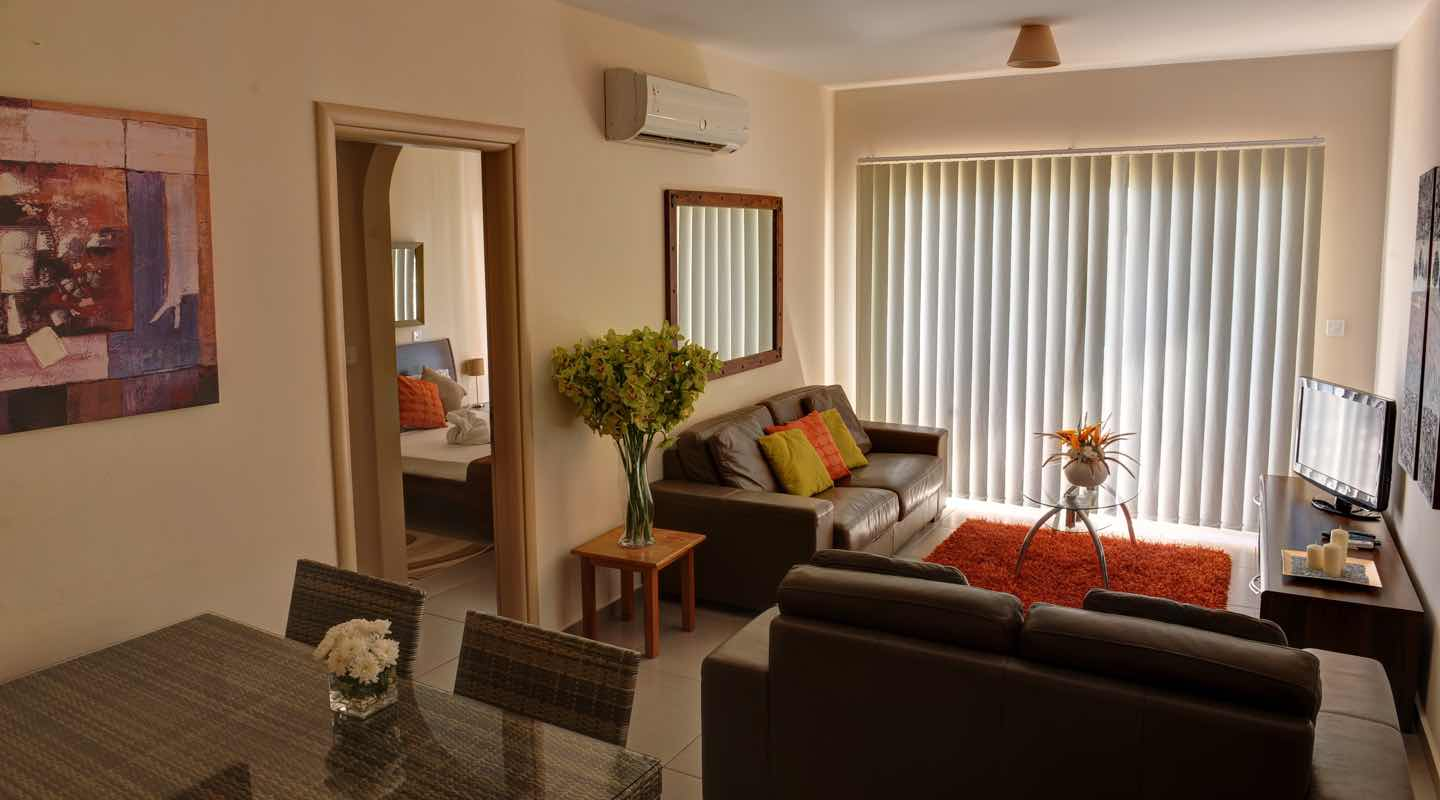 View of three bedroom apartment at Paphos Aphrodite Sands Resort