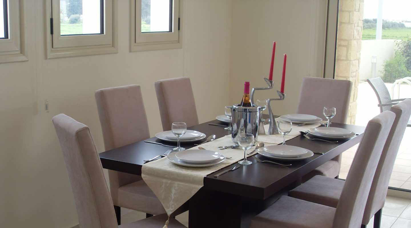 Dining Table of Villa at Paphos Aphrodite Sands Resort