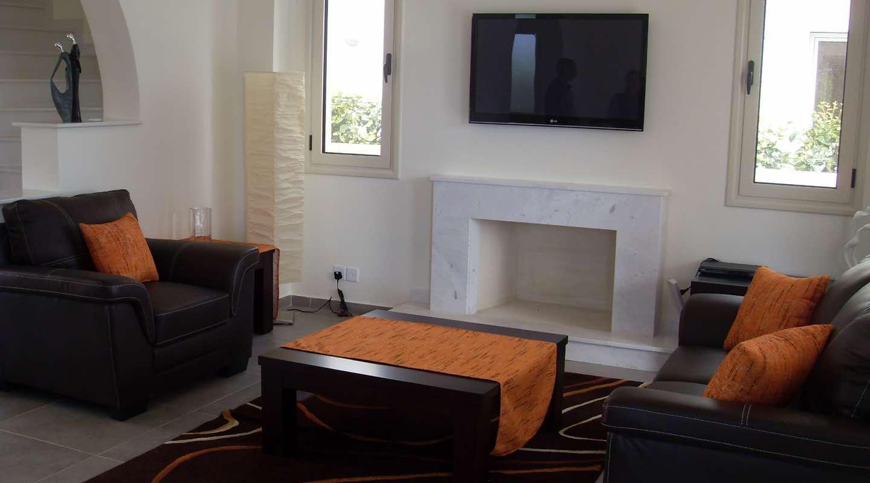Orange Living Room of Villa at Paphos Aphrodite Sands Resort