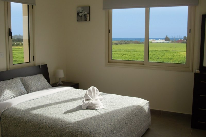 Paphos three bedroom villa holiday rental bedroom in Aphrodite Sands Resort