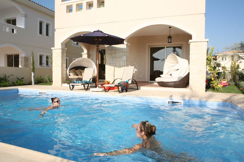 paphos three bedroom villa holiday rental swimming pool in Aphrodite Sands Resort