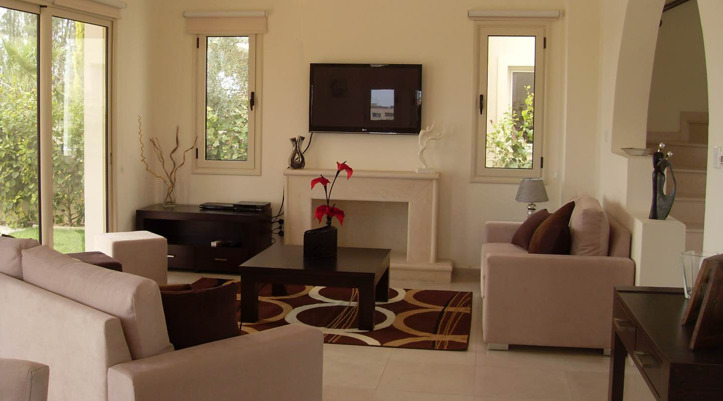 Sitting area of Villa at Paphos Aphrodite Sands Resort