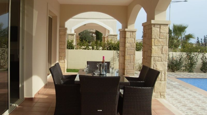 Terrace of Villa Paphos Aphrodite Sands Resort
