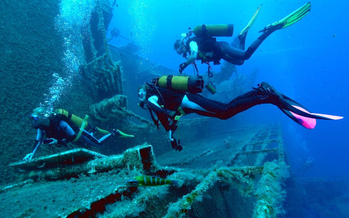 Scuba Diving activities to the Zenovia wreck in Cyprus