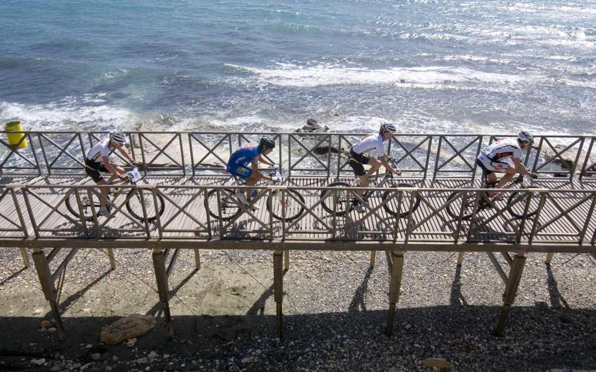 Cycling by the sea in Cyprus