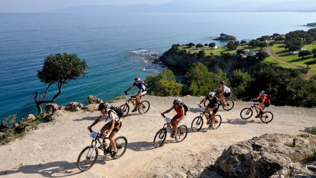 Cycling activities by the seaside in Cyprus